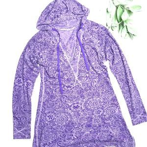 ATHLETA | sz XS purple Riviera burnout hoodie